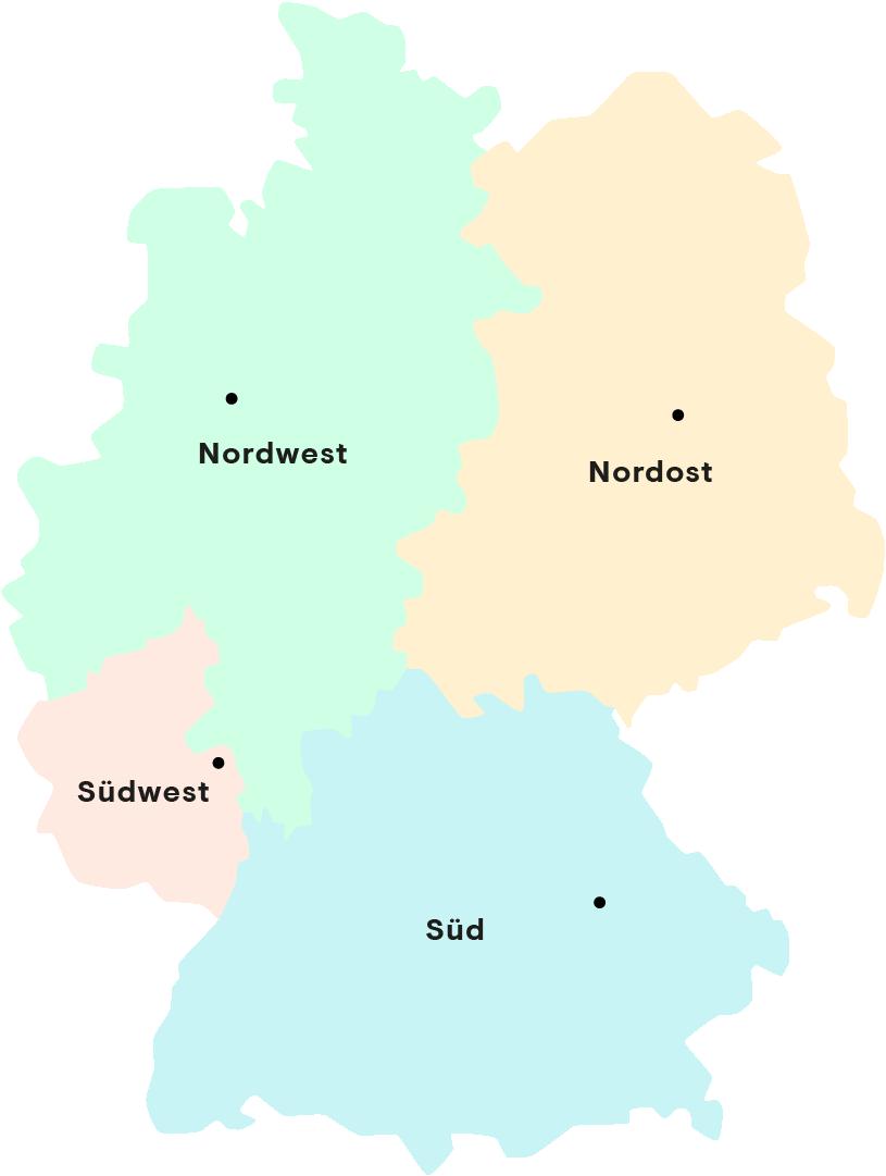 Projektregionen und Partner